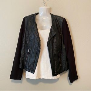 GIANNI BINI faux leather jacket